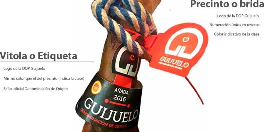 Jamón ibérico bellota Guijuelo etiquetado