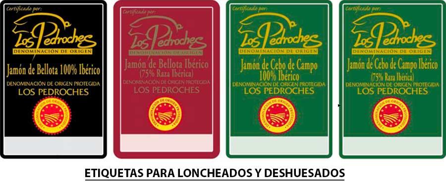 Etiquetas para deshuesados y loncheados Jamón de Pedroches