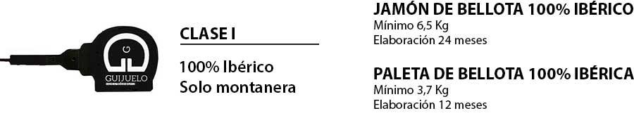 Paleta y jamón de bellota 100% ibéricos Guijuelo
