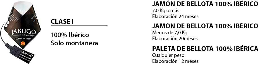 Paleta y jamón de bellota 100% ibéricos Jabugo
