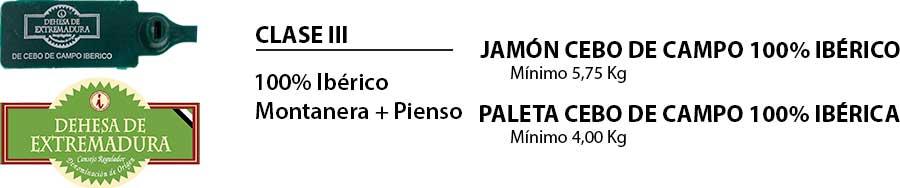 Paletilla y jamón cebo de campo 100% ibéricos Dehesa de Extremadura
