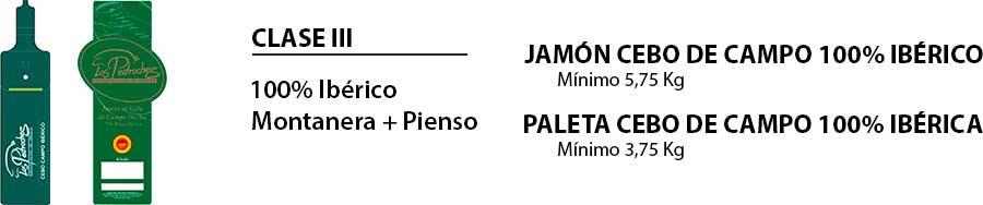 Paletilla y jamón cebo de campo 100% ibéricos de Los Pedroches