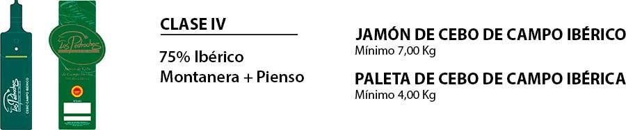 Jamón y paleta cebo de campo ibéricos DOP Los Pedroches
