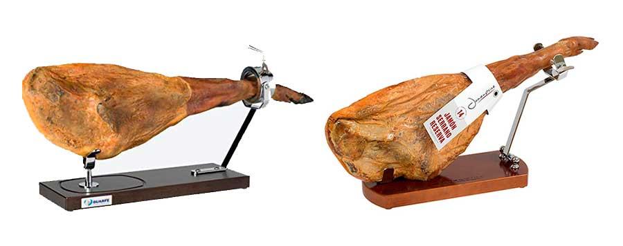 Jamoneros para cortar un jamón