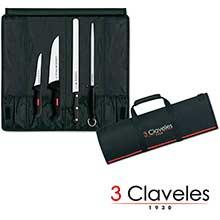 Set cuchillos jamoneros 3 Claveles