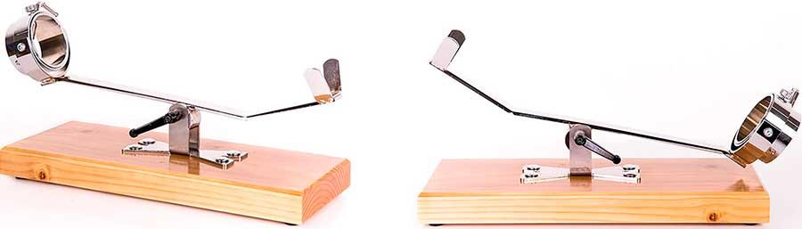 Soporte para jamón basculante y giratorio Bello con base de madera