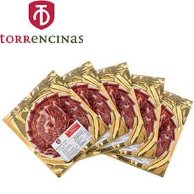 5 packs de 100 gr. de jamón loncheado Torrencinas